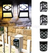 Solar Wall Fence Yard Garden Stair Pathway Landscape Lamp Outdoor LED Light