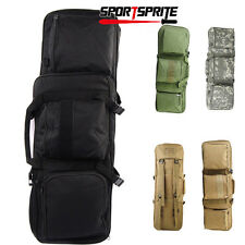 "33"" Hunting Rifle Bag MOLLE M4 Carbine Gun Storage Tactical Gun Case Maga Pouch"