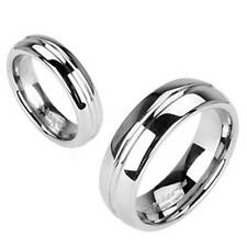 WOMENS MENS CLASSIC TUNGSTEN MIDDLE GROOVE WEDDING RING size 6 7 8 10 11 13