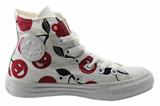 Converse CT All Star Hi Top Womens Canvas Trainers White Cherry 547345C D26