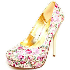 Women High Heel Glitter Stilettos Round Toe Platform Pumps Dress Bridal Shoes