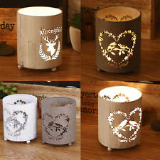 Lovely Heart Love Birds Deer Patterned Tea Light Candle Holder Party Table Décor