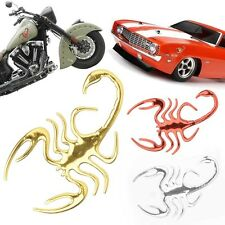 1PC New 3D Scorpion Badge Window Decal Sticker for Motorcycle Auto Car 3Colors