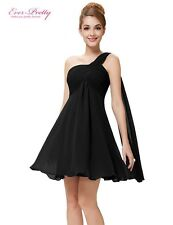 Cocktail Dresses Ever Pretty HE03537 One Shoulder Ruffles Padded Chiffon Short S