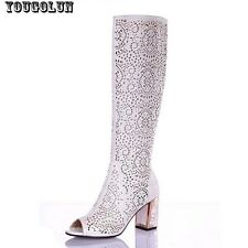 Womens sandals knee high women Summer boots sexy fashion sandal heels(7cm)Ladies