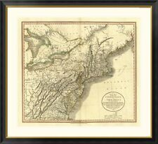 'New York, Vermont, New Hampshire, 1806' by John Cary Framed Graphic Art