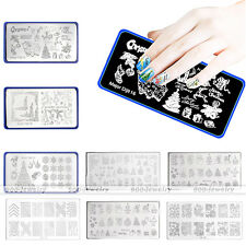 Christmas Manicure Template Stainless Steel Nail Art Stamping Plate Xmas Gift