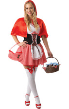 Ladies Sexy Little Red Riding Hood Fairytale Fancy Dress Costume