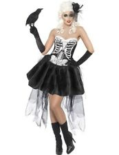Ladies Womens Skeleton Skelly Von Trap Halloween Fancy Dress Outfit Costume