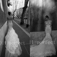 Sexy Mermaid Wedding Dresses Vintage Corset Bridal Lace Gown Custom Size 2016