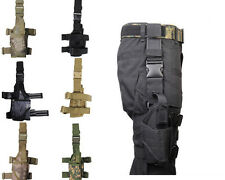 Tactical Hunting Pistol Drop Leg Thigh Right/Left  Hand Holster Pouch War Game