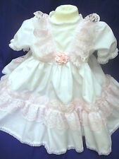 DREAM CLEARANCE!! ROMANY SPANISH 3D ROSES LINED NET FRILLY DRESS 0-3 6-12 12-18