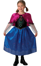 New Girls Disney Princess Frozen Deluxe Anna Child Fancy Dress Costume Outfit
