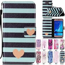 Fashion Flip Leather Wallet Card w/Strap KickStand Cover Case For Samsung Galaxy