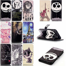 Fold Flip Leather Wallet Phone Cover Case For LG LS770 G5 Samsung S7 Edge S7 S6