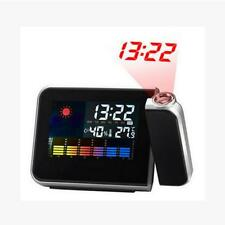 Digital Weather LCD Projection Snooze Alarm Clock with Colorful LED Backlight
