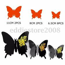 12Pcs 3D Butterfly Sticker Art Design Decal Wall Stickers Home Room Decoration