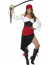 Ladies Sassy Caribbean Pirate Wench Buccaneer Lady Fancy Dress Costume