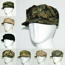 Casual Camouflage Camo Cadet Box Military Combat Army Flat Top Visor Hats Caps