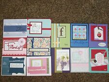 12 Handmade Friend/Friendship Cards w/ envelopes-Stampin' Up! & more