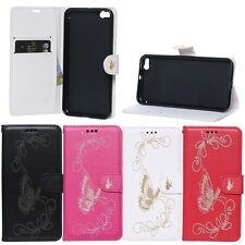 Laser carving butterfly leather pouch stand Case cover skin for HTC One X9 E56ML