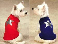 CHOOSE SIZE & COLOR - Zack & Zoey - AMERICA'S PUP SEQUIN STAR - DOG TANK SHIRT
