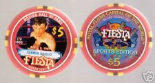 "1997 $5 Fiesta ""Carmen Basilio "" Boxing Casino Chip NM/MINT N.LAS VEGAS NEVADA"