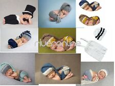 Newborn Baby Unisex Crochet Knit Photogr Hat Outfit Set Infant Costume Photo New