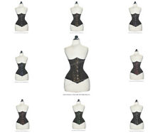 Heavy 26 Double Steel Boned Waist Training Brocade Underbust Corset #8553-BRO