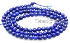 "SALE Small 4mm Round Blue natural lapis lazuli loose beads strand 15""-los638"