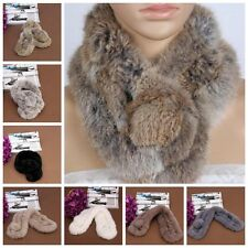 Real Rabbit Fur Scarf Shawl Cape Wrap Collar Stole Winter Scarf  Women New