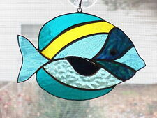 Handmade Stained Glass Tropical FISH SUNCATCHER (FH40)