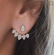 1Pair Fashion Crystal Rhinestone Drop Women Pierced Ear Stud Earrings Jewelry