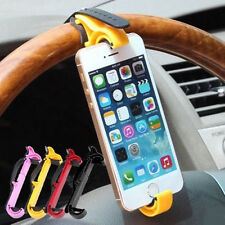 Steering Wheel Cradle Holder Smart Clip Car Bike Mount Bracket For GPS Phone