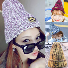 2015 Women Girls Winter Warm Wool Knit Beanie Ski Hat Chic Mustache Cap O214