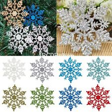 12Pcs Glitter Snowflake Christmas Xmas Tree Ornaments Decoration Decor New