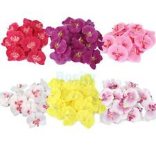 20pcs Artificial Fake Silk Butterfly Orchid Flower Head Buds Party Bridal Decor