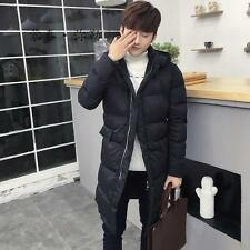 HOT SALE!!!New Mens Winter Hooded Knee Long Warm Jacket Outwear Coat Black Parka