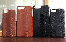 Luxury Rare Genuine Ostrich Leg Skin Leather Case Cover for iPhone 6/ 6s/ 7 Plus