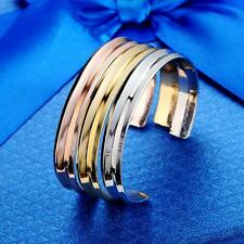 1x Luxury Stainless alloy Cuff Opening Bracelet Bangle For Women Jewelry Gift SZ