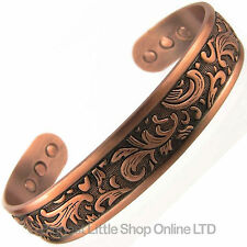 Mens Magnetic Copper Bracelet Bangle Chunky Gothic Therapy Magnets Bio Healing
