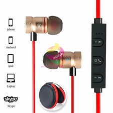 Red ZH56 Magnetic Wireless Bluetooth Handsfree Headset Earphone For Cell Phone