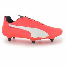 Puma Kids evoSpeed 4.4 SG Juniors Football Boots Lace Up Studs Lightweight Shoes