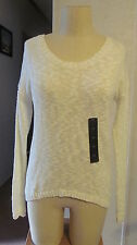 NWT Attention Crew Neck Chunky Sweater Ribbed Hem 3/4 Sleeve Womens