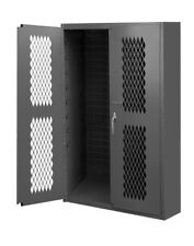 Durham Manufacturing Welded 16 Gauge Steel Ventilated Janitorial Cabinet