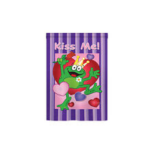 Two Group Flag Co Kiss Me Frog 2-Sided Vertical Flag