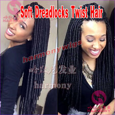 "20"" 20Strands/pack Synthetic Hair Faux Soft Dreadlocs Twist Braids Havana Mambo"