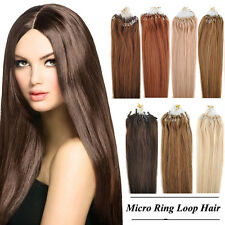 "18~22"" 50g 100S Micro Ring Loop Tipped Remy Human Hair Extensions For Women"