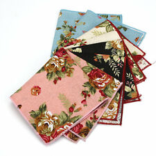 Men Vintage Linen Cotton Floral Pocket Square Handkerchief Wedding Party Hanky