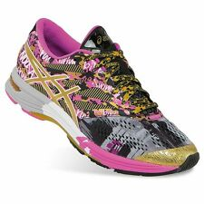 NEW Womens ASICS Gel-Noosa Tri 10 GR Gold Ribbon Running Shoes Multi-Color